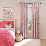 LORRAINE HOME FASHIONS Clouds Blackout Window Grommet Panel, 50″ x 84″, Pink