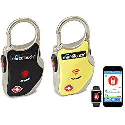 eGeeTouch Smart TSA Travel Lock-Secure & Track your Luggage anywhere you go (eGeeTouch Smart TSA Luggage Lock with Patented Dual Access NFC + Bluetooth technologies & Vicinity Tracking (Mix 2 Pack) …)