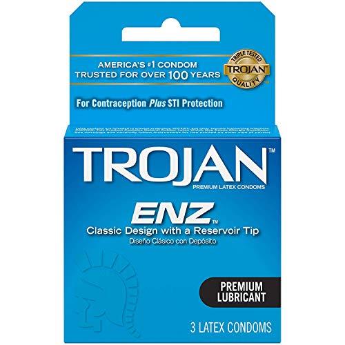 Trojan ENZ Lubricated Condoms, 3 Count