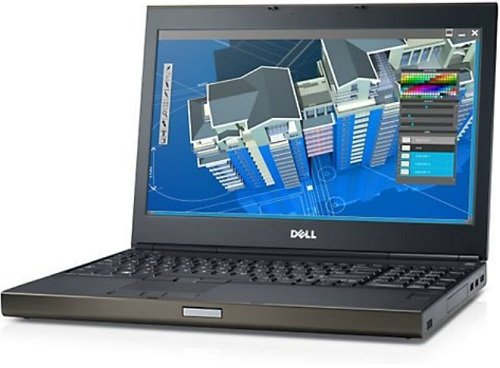 "Dell Precision M4800 15.6"" HD Ultrapowerful Mobile Workstation, Intel Core i7-4810MQ up to 3.8GHz, 8GB RAM, 500GB HDD, AMD Radeon HD 8870M, Webcam, DVD, Windows 7 Professional (Certified Refurbished)"