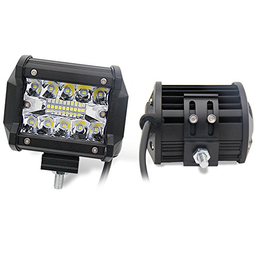 Kingopt 2X 4 Inch Three Row LED Light Bars