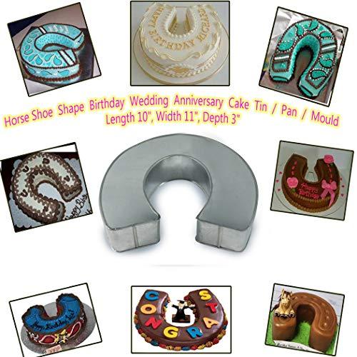 - Horse Shoe Shape Birthday/Wedding Anniversary Cake Tin/Pan/Mould Length 10