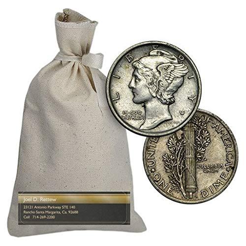 Average Circulated Mercury Dime Single Coin 1 Date Our Choice Dime Circulated