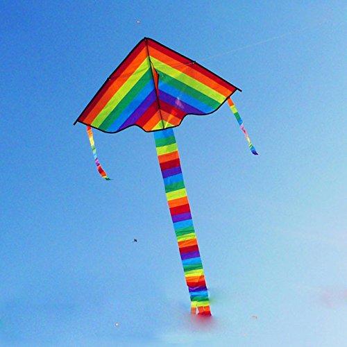 Samy Best Rainbow Kite Long Tail Nylon Outdoor Toys For Children Kids Kites