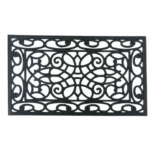 Rubber-CalOrion Outdoor Cast Iron Door Mat, 18 by 30-Inch 10-103-501