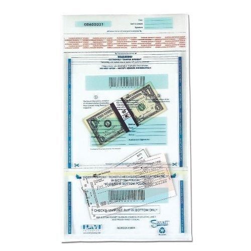 会社PM SecurIT Tamper Evidentプラスチックデュアルデポジットバッグ、クリアwith Printedコンテンツ領域、11 x 15インチ、100カートン( 58008 ) by PM会社 B0141NBQV8