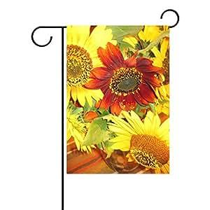 jstel casa Girasoles poliéster tela jardín banderas Lovely y resistente al moho Custom de resistente al agua 12x 18inch
