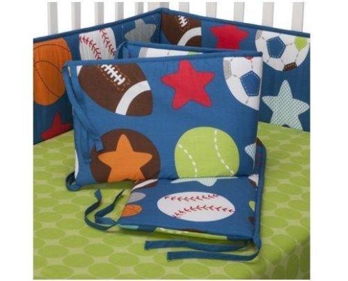 (Big Sports 4-Sided Baby Crib Bumper (40