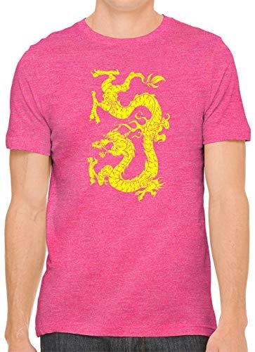 Austin Ink Apparel Yellow Dragon Tattoo Unisex Premium Crewneck Printed T-Shirt Tee