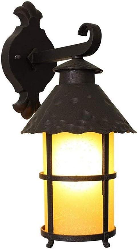 Lámpara de porche Accesorio de bronce frotado con aceite Bombilla negra para el exterior de la casa Patio de patio Linterna de una luz en acero con lámpara de pared de vidrio transparente con semillas