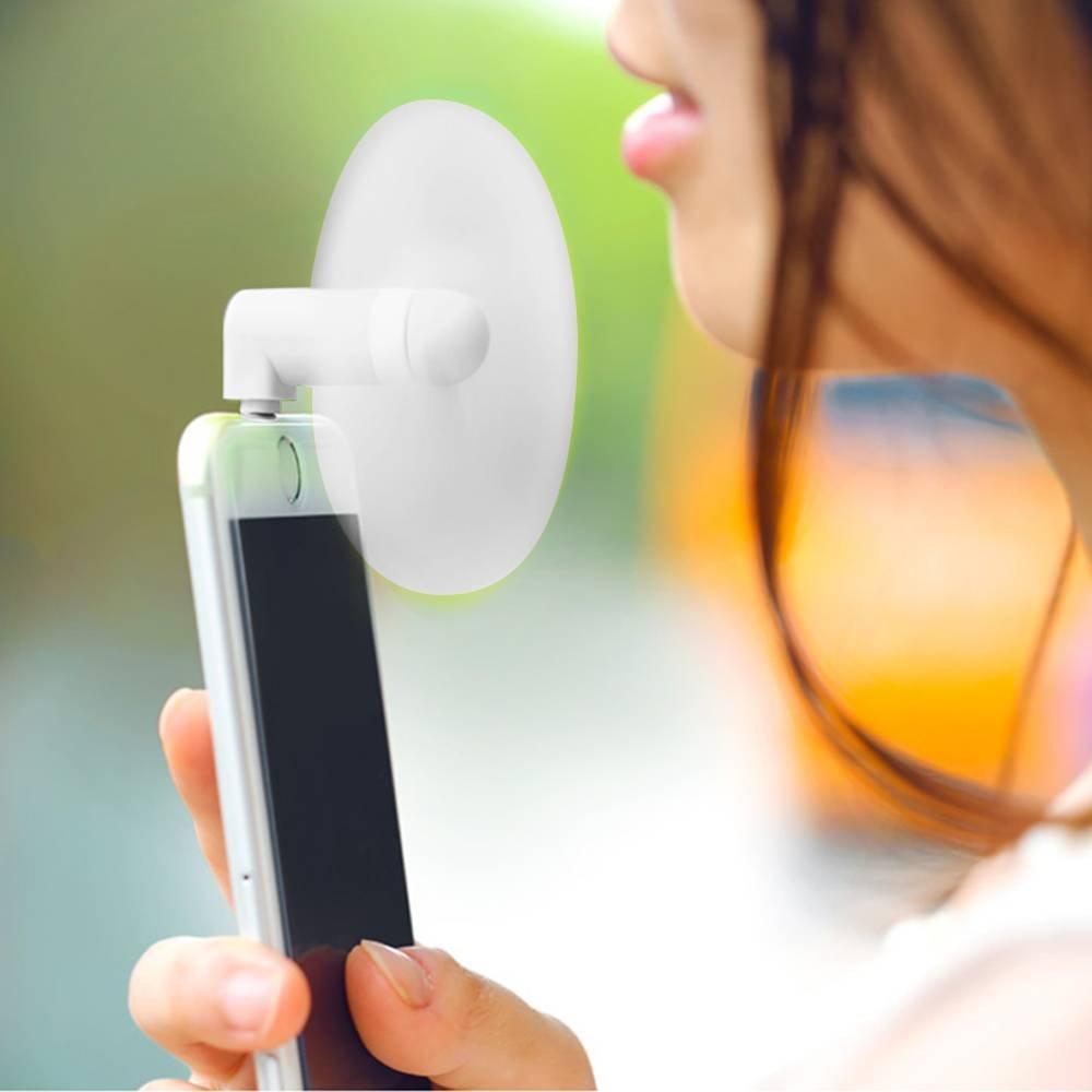 E.F.Connection Mini Ventilateur USB Type-C Portable Smartphone Tablette pour Samsung S8 S8Plus S9 S9Plus A8 Note8 Rose
