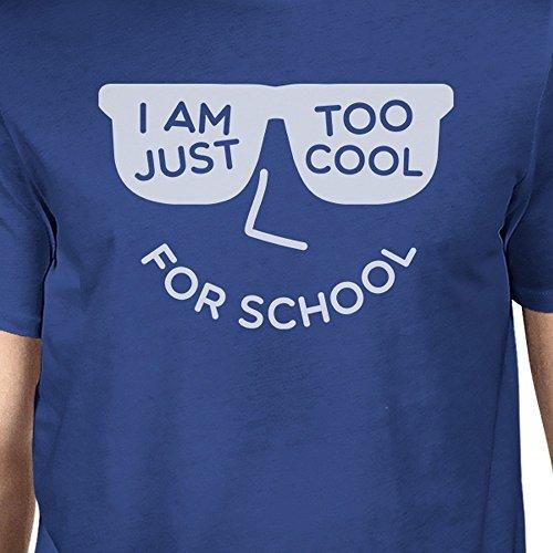de o para demasiado Un el escuela tama Camiseta fresco corta 365 hombres de azul para manga Printing la 1xwHzWwqUE