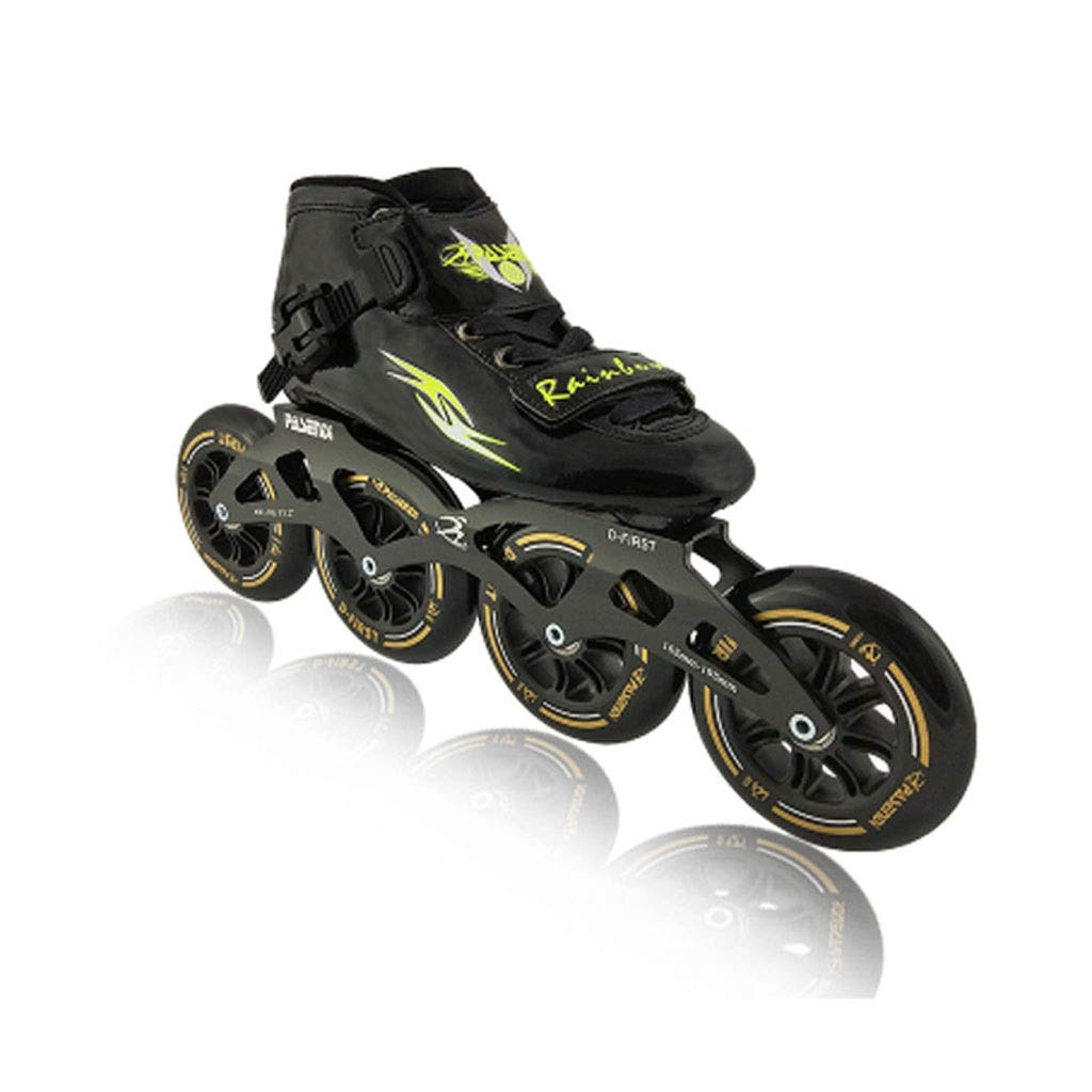 WEN インラインスケート、 子供用4輪90MMホイール プロの単列スケート靴 初心者 3色 ローラースケート Inline skate (色 : 青, サイズ さいず : 35 EU/4 US/3 UK/22.5cm JP) B07QZCL9KL 34 EU/3 US/2 UK/22cm JP|ブラック ブラック 34 EU/3 US/2 UK/22cm JP