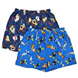 Looney Tunes Mens 2-Pack Flannel Boxers Cartoon Boxer Shorts