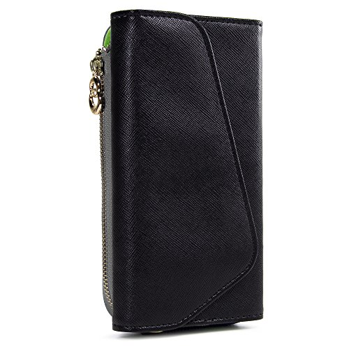 Ombre Wristlet Womens Wallet Phone Case, Clutch Wrist Strap Card Slots Cash Pocket Crossbody Shoulder Bag