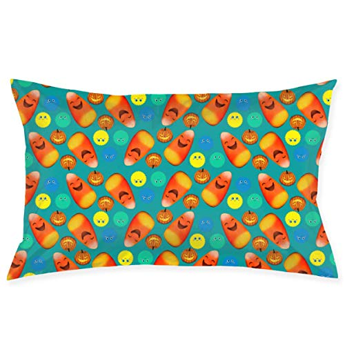 Etuwdie Happy Halloween Emoticon Pattern Pillowcases Decorative Pillow Covers Soft and Cozy, Standard Size 20