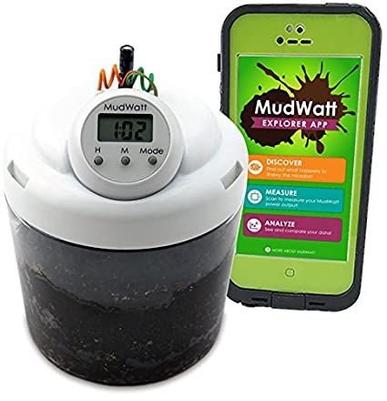 MudWatt - Clean Energy from Mud - Grow Your own Living Fuel Cell - Classic  STEM Kit