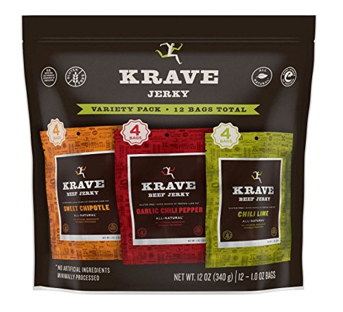 Krave Beef Jerky Variety Pack (1 oz. ea., 12ct.)
