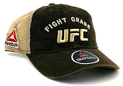 UFC Reebok New MMA Fight Grade Brown Tan Mesh Trucker Dad Era Snapback Hat Cap from Reebok