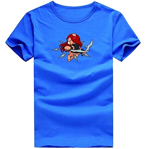 Casual and comfortable, cartoon ninja bear printed t-shirt ...