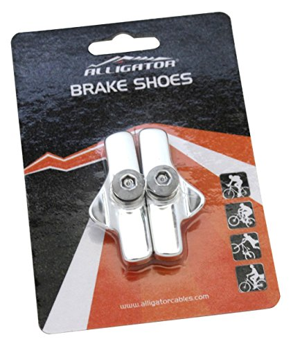 Cable Brake Campy (Alligator Bike Road Brake Cartridge Compatible Shoes Pads with Campy Campagnolo Brake, Silver)