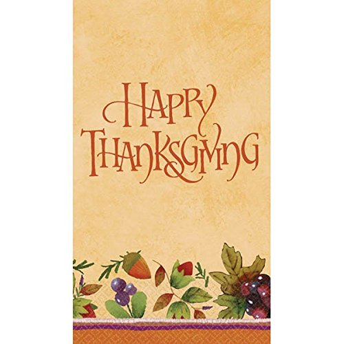 Thanksgiving Medley Gold Paper Guest Towels, 16 Ct. | Party Tableware]()