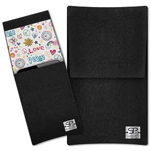 SIMON PIKE Cáscara Funda de móvil Sidney 9 negro Alcatel 991D Fieltro de lana