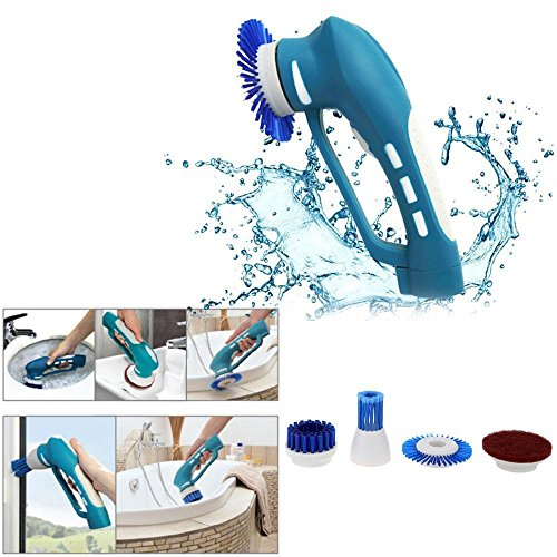 Cordless Portable Electric Power Scrubber Bathroom Kitchen Cleaning Tool