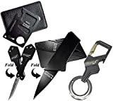 Gifts for Men Gadgets (Set of 4 Piece) Card Size Multitool, Key Knife, Credit Card Knife and Bottle Opener Keychain