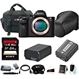 Sony Alpha a7II Mirrorless Digital Camera (Body Only) w/ 64GB SD Card & Sony Soft Carrying Case Bundle