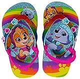 Paw Patrol Girls Flip-Flop Sandals (5-6, Rainbow)