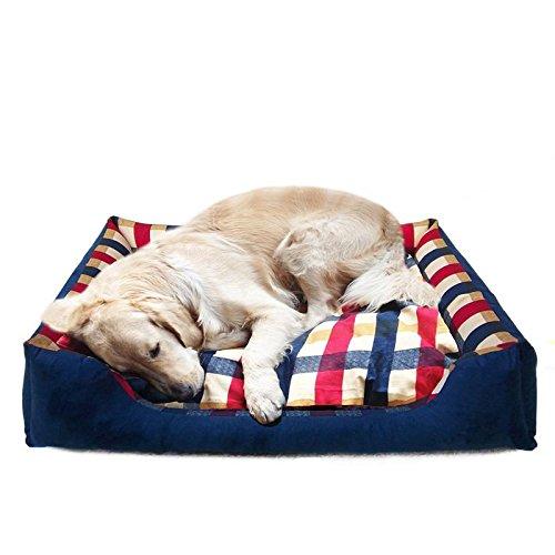 Golden Retriever Zwinger Waschbare Haustier-Bett Winter Samoyed Husky Große Leinwand Sofakissen Su Mu