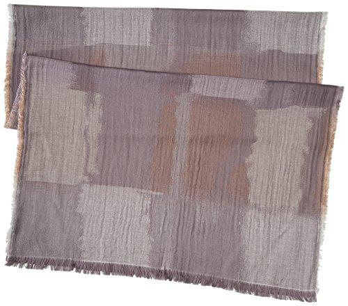 BCBGMAXAZRIA Women's Color Block Wrap, Pumice, One Size