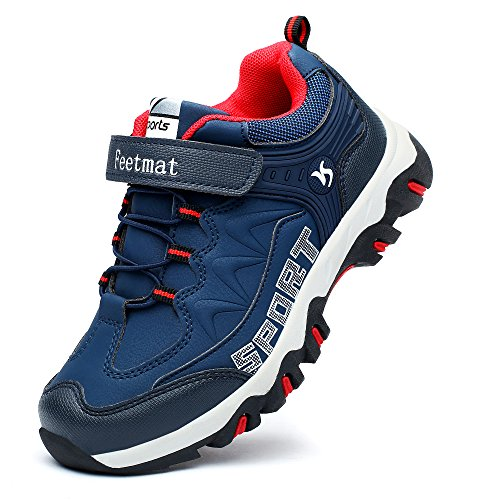 Feetmat Running Shoes For Kids Waterproof Outdoor Hiking Athletic (Velcro Running Shoes)