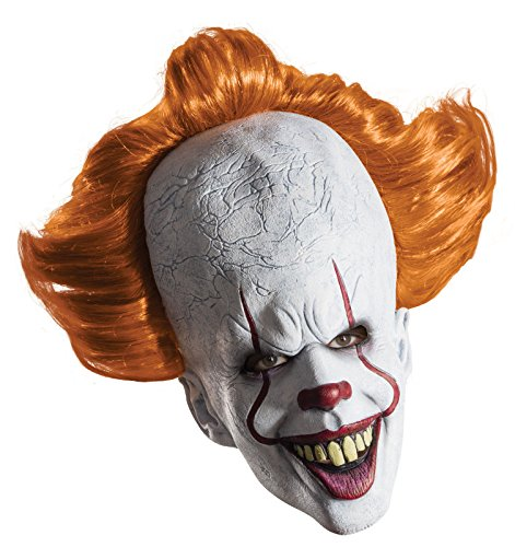 Pennywise It Clown Latex Mask Officially Licensed Full Over Head with Hair Mask