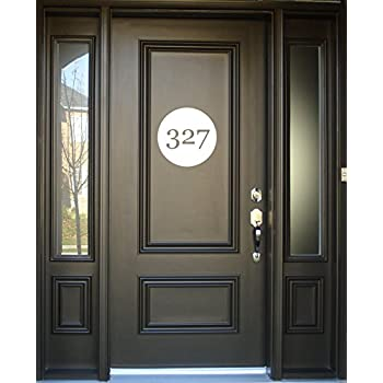 Amazoncom House Number Decal Personalized Family Address Number - Vinyl stickers for glass doors