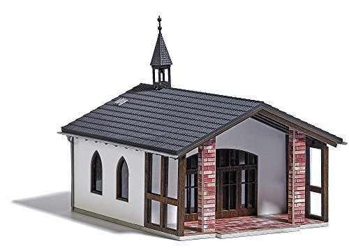 Busch 1566 Cemetery Chapel HO Structure Scale Model Structure