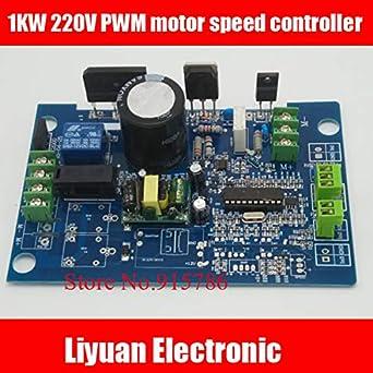 Fevas 1KW 220V PWM Motor Speed Controller / 500W Universal DC Motor