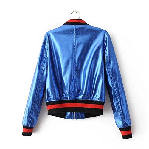 Zhhlinyuan Casual Chic PU Leather Short Outerwear Heavy Embroidery Metal  Slim Biker Motorcycle Baseball Veste Femme  Amazon.fr  Vêtements et  accessoires c28fdbaf7da