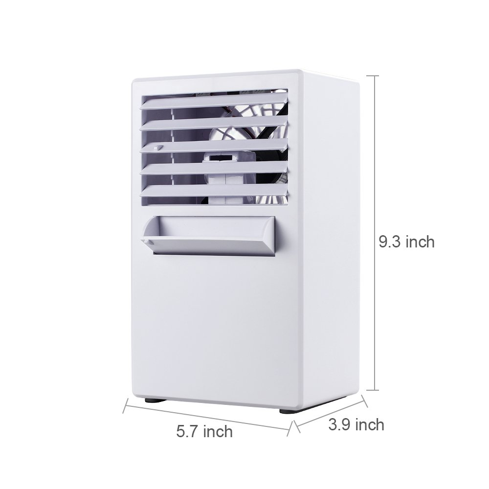 LOHOME Desktop Humidifier Fan Personal Misting Fan Cooler Spray Humidifier Cooler Fan for Summer