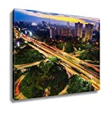 Ashley Canvas Nightshot City Of Jakarta Indonesia Asia Wall Art Decoration Picture Painting Photo Photograph Poster Artworks, 20x25