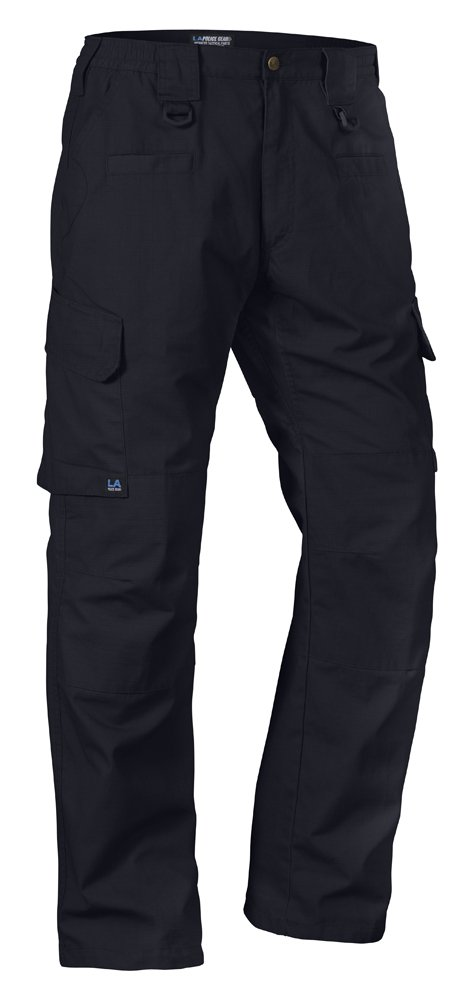 LA Police Gear Men's Operator Tactical Pant with Elastic Waistband Navy-40 x 32