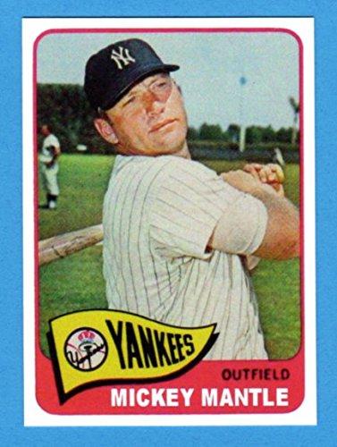 Mickey Mantle 1965 Topps Baseball Reprint Card (Yankees)