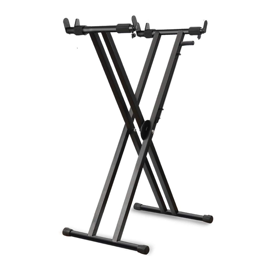 Synthesizers & Workstations Keyboard Stand Piano Stand Keyboard Stand and Bench Set Wrought Iron 61-Key 76 Guzheng X-Shaped Zither Portable Stage Stand (Color : Black, Size : High 99cm) by Synthesizers & Workstations