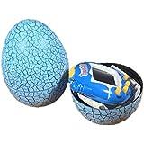 Blue Kids Electronic Virtual Pet Machine E-pet Dinosaur Egg Toys Cracked Eggs Cultivate Game Machine for Children Boy Girls