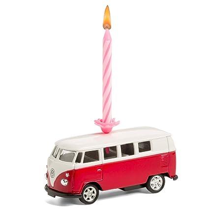 corpus delicti :: Vela sobre Ruedas - el Regalo de cumpleaños para Todos los fanáticos de Bulli - VW Bus T1 Bulli de Metal (Rojo)