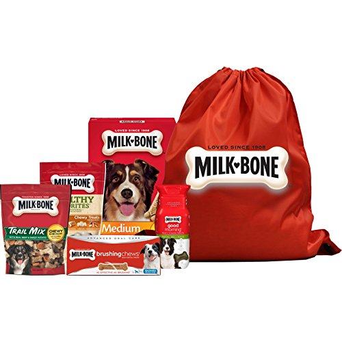 Milk-Bone Medium Breed Dog Treat Bag, Variety Pack of 5, (Brushing Chews Dental Treat, Good Morning Vitamin Dog Treat, Healthy Favorites Chicken Dog Treat, Trail Mix Dog Treats, Original Dog Biscuits) For Sale