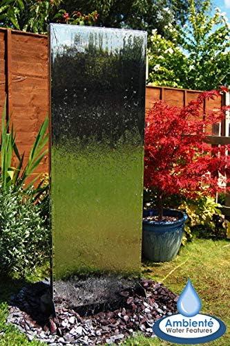 180 cm (5 27, 94 cm) de agua Vertical doble-cara de pared con depósito de plástico: Amazon.es: Jardín