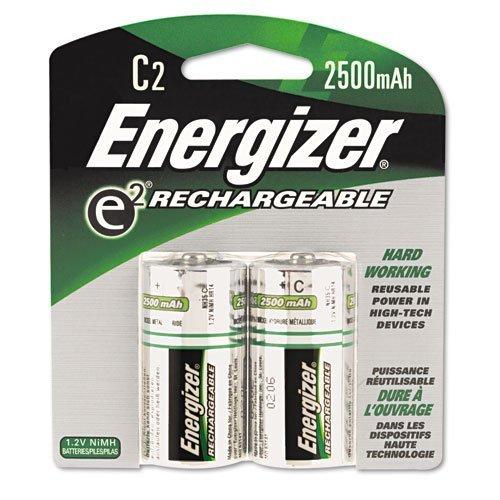 Energizer e2 C2 NiMH Rechargeable Batteries, C, 2/pack - Pack of 6 Total of 12 Batteries by Energizer