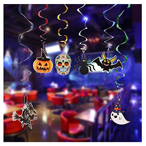 New Scary Halloween Party Witches and Bats Swirl Ceiling Hanging Decoration
